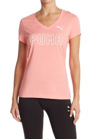 PUMA Stacked Outline V-Neck Tee