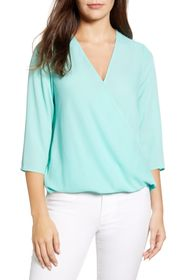 GIBSONLOOK Surplice Blouse