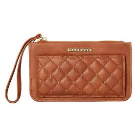 Womens Rampage Quilted Wristlet with Studs