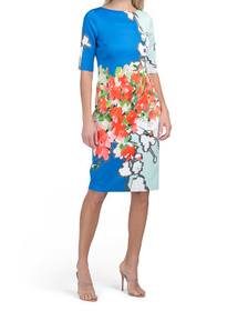 Abstract Printed Scuba Dress