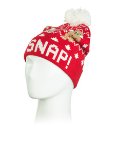 Oh Snap Gingerbread Man Beanie With Glitter Embroi