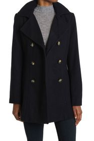 Nautica Double Breasted Wool Blend Peacoat
