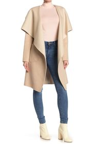 BCBGMAXAZRIA Wing Collar Wool Blend Duster Coat