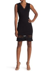 Elie Tahari Clarrisa Lattice Inset Dress