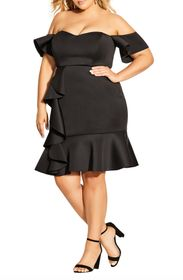 City Chic Flutter Away Party Dress