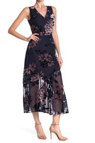 Sam Edelman Vintage Floral Burnout Maxi Dress