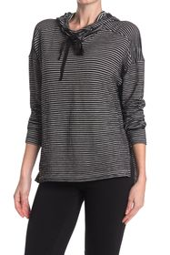 Max Studio Striped Hooded High/Low Tunic