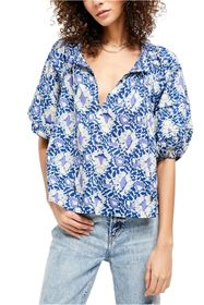 Free People Willow Printed Blouse
