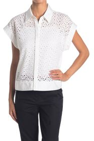 Elie Tahari Diamond Eyelet Shirt