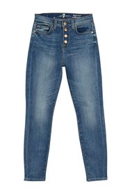 7 For All Mankind Gwenievere High Waist Ankle Skin