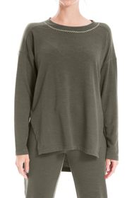 Max Studio Dolman Sleeve High/Low Pullover