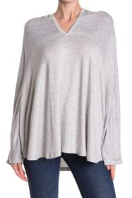 Jessica Simpson Heathered V-Neck Hooded Lounge Pon