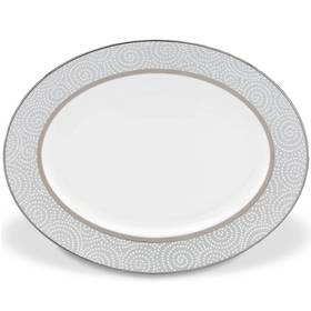 "Lenox Pearl Beads™ 13"" Oval Serving Platter"