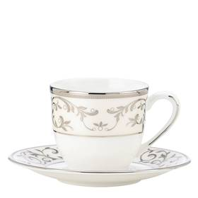 Lenox Opal Innocence Silver Espresso Cup and Sauce