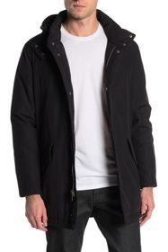 Cole Haan Drawcord Hem Hooded Jacket