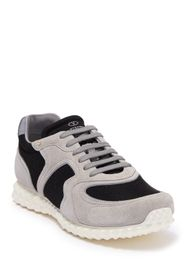 Valentino Colorblock Suede Panel Lace-Up Sneaker