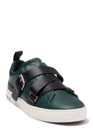 Valentino Buckle Strap Leather Sneaker