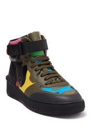 Valentino Camo Leather High Top Sneaker