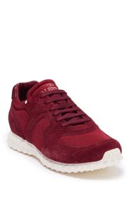 Valentino Suede Panel Lace-Up Sneaker