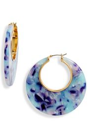 kate spade new york on the dot hoop earrings