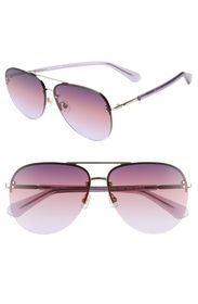kate spade new york jakaylas 62mm aviator sunglass