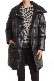Donna Karan Long Quilted Puffer Jacket