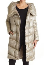 Donna Karan Long Hooded Puffer Coat