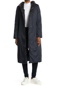 Donna Karan Hooded Reversible Quilted Coat