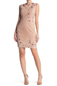 Elie Tahari Emily Embellished Sheath Dress