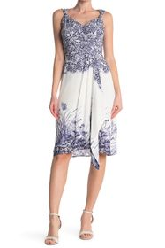 Elie Tahari Harlow Printed Draped Dress