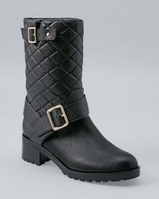 Quilted Mid-Calf Boots
