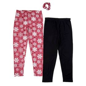 Girls (7-16) Colette Lilly 2pk. Snowflake & Solid