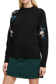 French Connection Tilda Floral Embroidered Sweater
