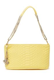Betsey Johnson Cold Blooded Quilted Baguette Shoul