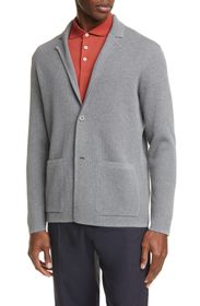 Z Zegna Trim Fit Knit Cotton Sport Coat
