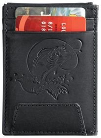 RedHead Bass Embossed Leather Front Pocket Wallet