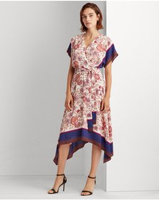 Ralph Lauren Crepe Fit-and-Flare Dress