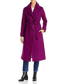 kate spade new york - Belted Notch Collar Coat