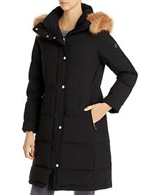 kate spade new york - Faux Fur Trim Hooded Parka