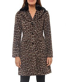 kate spade new york - Leopard Print Faux Fur Colla