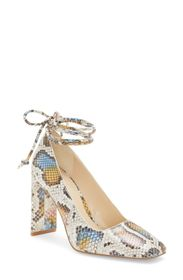 Vince Camuto Damell Lace-Up Square Toe Pump