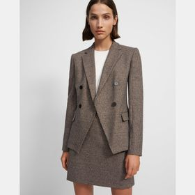 Angled Blazer in Houndstooth Knit