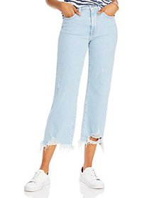 7 For All Mankind - Alexa Cropped Ripped-Hem Jeans