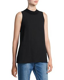 Theory - Silk Mock Neck Top