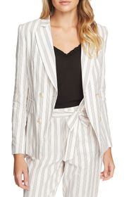 1.STATE Duet Modern Stripe Double Breasted Jacket