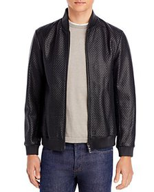 Theory - Woven Leather Bomber Jacket