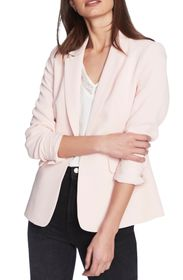 1.State Textured Crepe One-Button Blazer