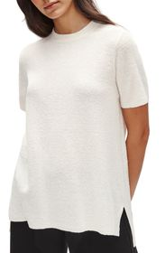 Eileen Fisher Short Sleeve Organic Linen Blend Tun