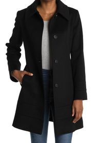 Fleurette Club Collar Wool Coat