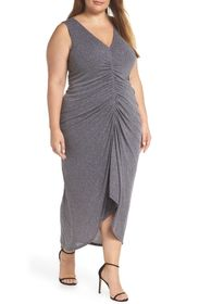 Vince Camuto Sleeveless Ruched Front Metallic Even